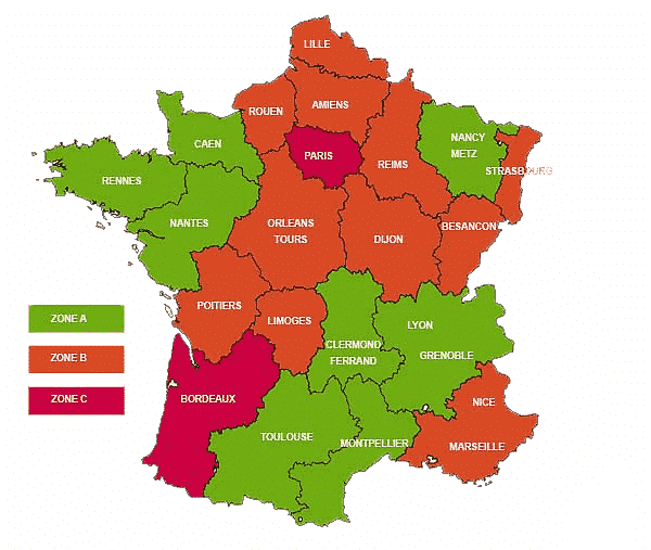 carte-france-zones-vacances-2